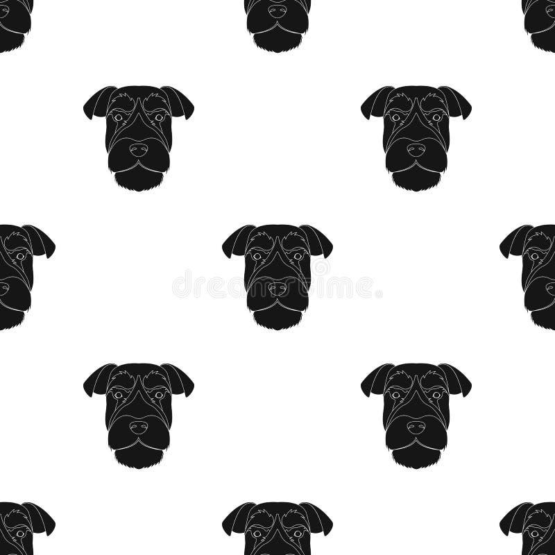 Una raza de un perro un schnauzer subido ilustración del vector