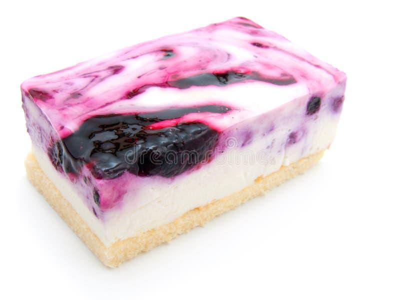 Una rebanada de pastel de queso del arándano fotografía de archivo libre de regalías