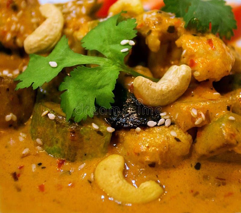 Una rebanada de platos indios del curry fotos de archivo libres de regalías