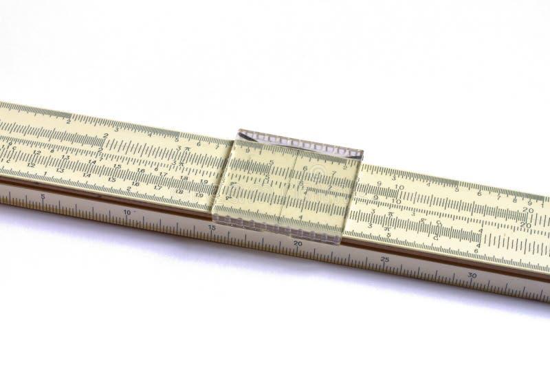 Una regla de diapositiva matemática fotografía de archivo