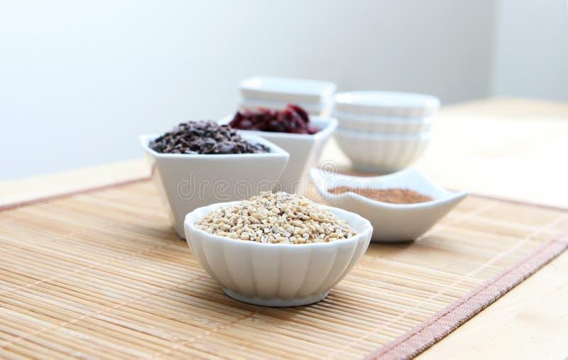 Grani sani e Ingrediends immagine stock libera da diritti