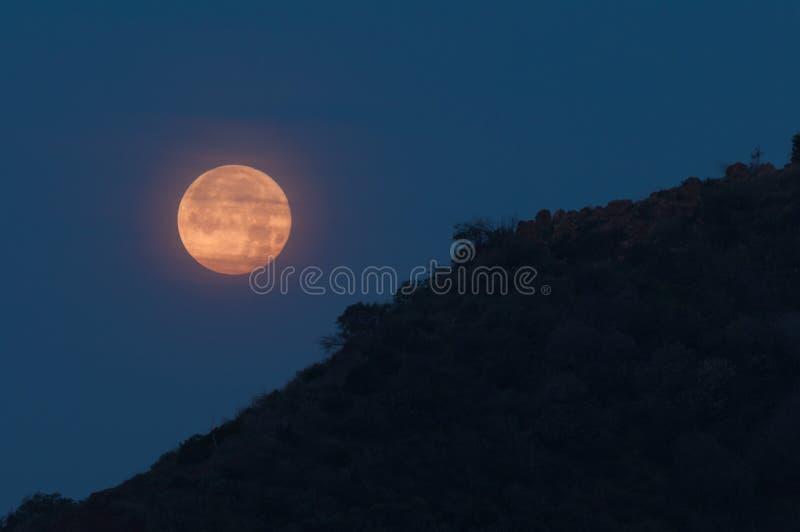 Una regolazione della luna in California del sud fotografia stock