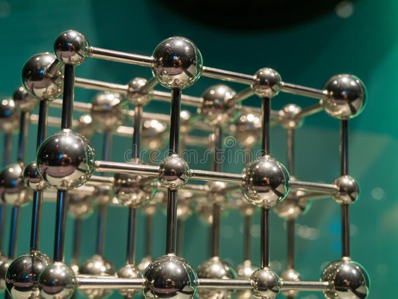 Representación del enrejado cristalino del cromo foto de archivo libre de regalías