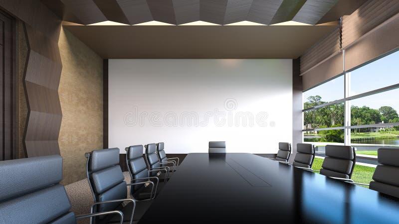 Una representación vacía sala/3D de reunión ilustración del vector