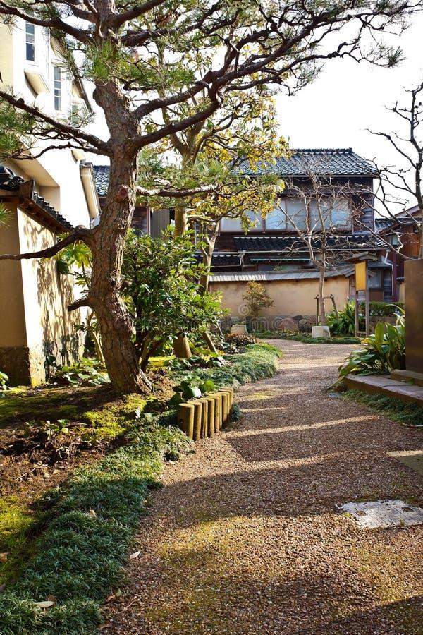 Una residenza ripristinata del samurai immagine stock