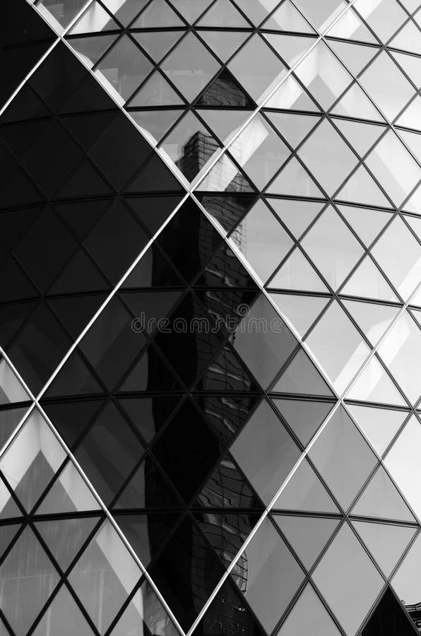 Una riflessione astratta sul cetriolino a Londra immagini stock libere da diritti
