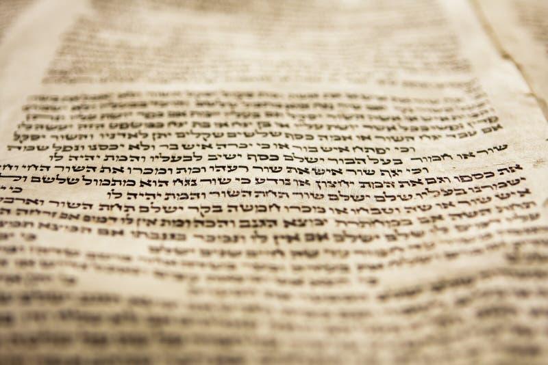 Una riga di Torah immagini stock