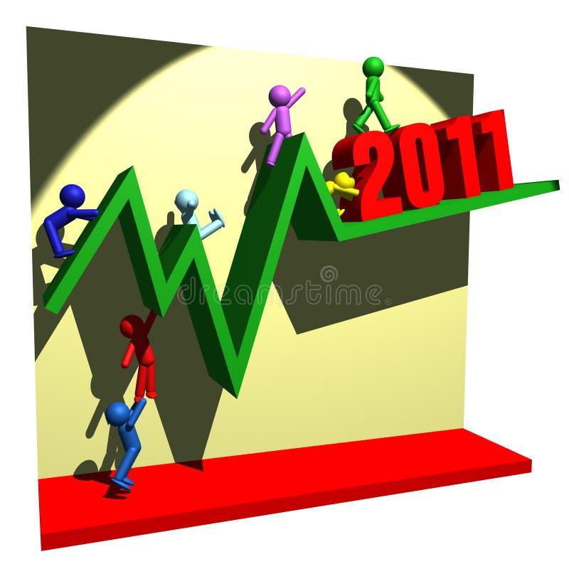Una riga finanziaria di 2011 royalty illustrazione gratis