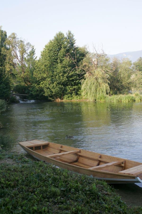 Una river in Bosnia. Detail of Una river near Bihac town in Bosnia and Herzegovina royalty free stock photo