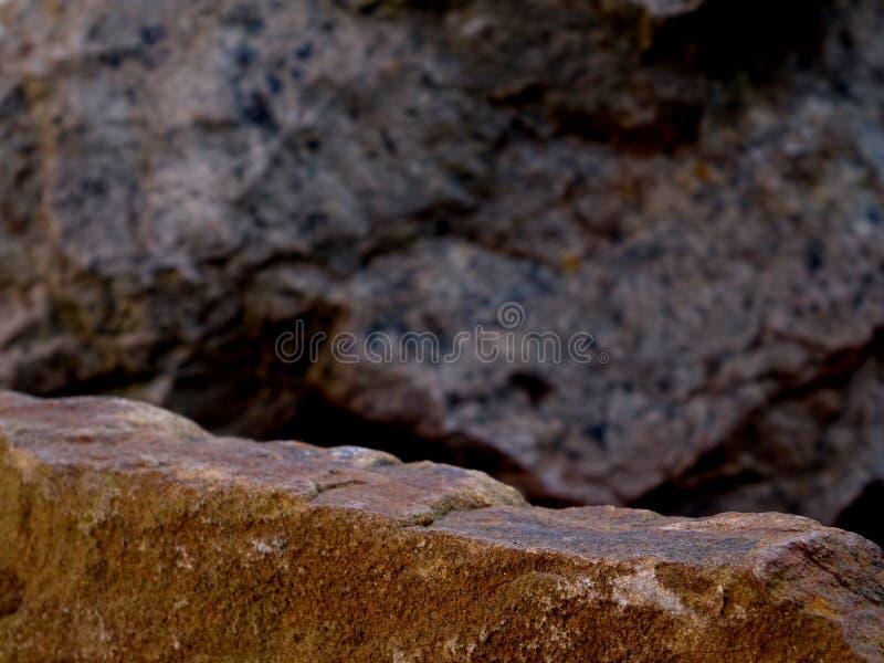 Una roccia di Forgeground per un espositore immagini stock libere da diritti