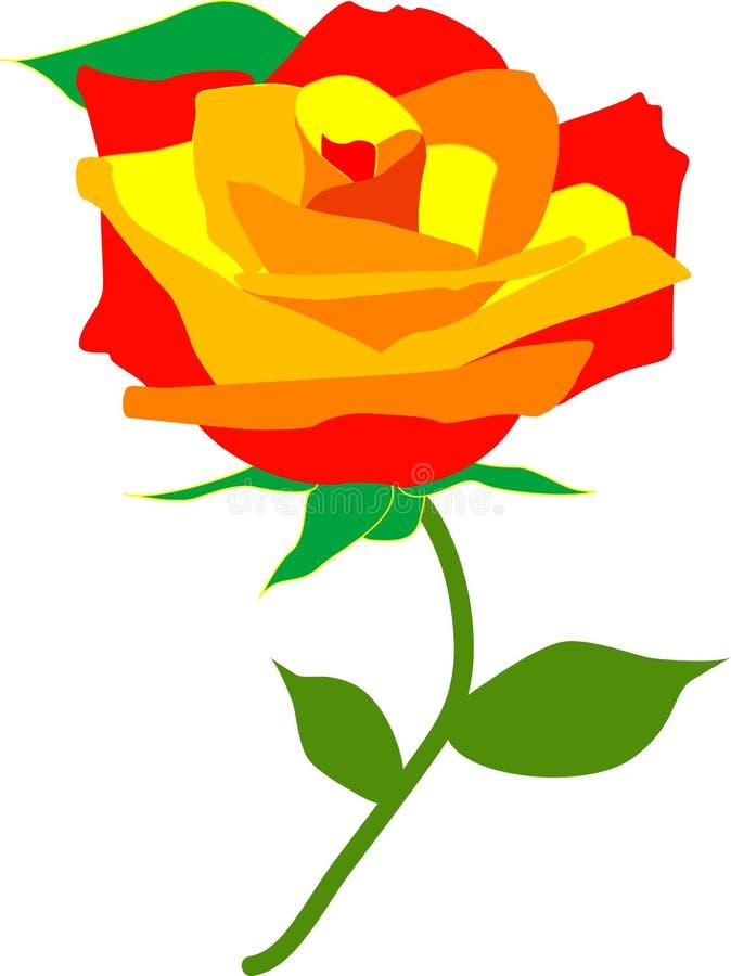 Una rosa per amore illustrazione di stock