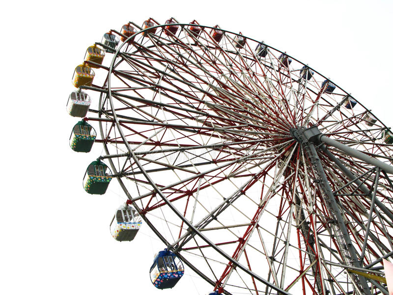 Una rotella di Ferris immagini stock libere da diritti