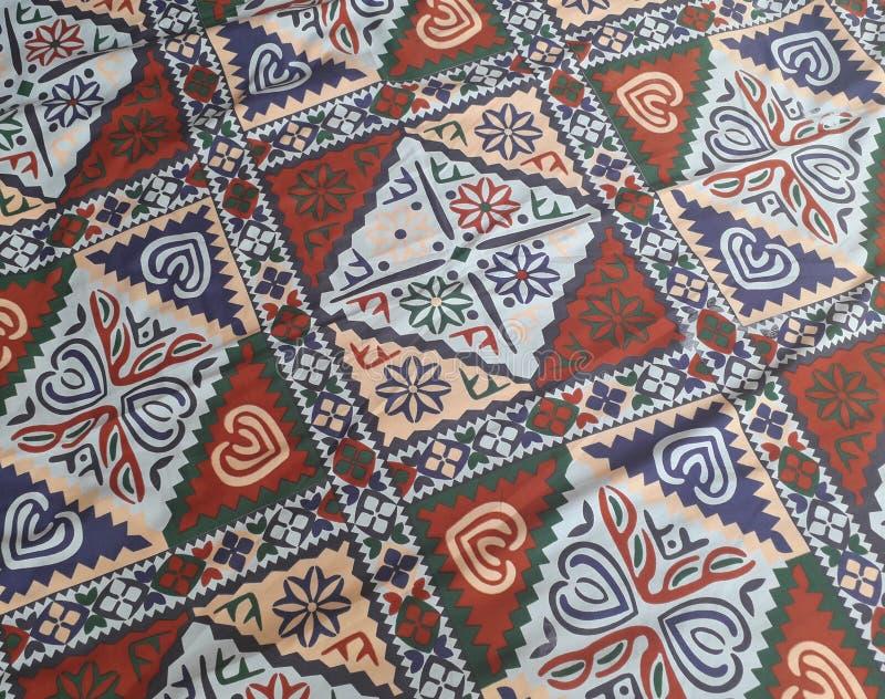 Una sábana utiliza generalmente en Paquistán para las sábanas hechas por un solo o un grupo de mujeres sobre todo en vida del pue fotos de archivo libres de regalías