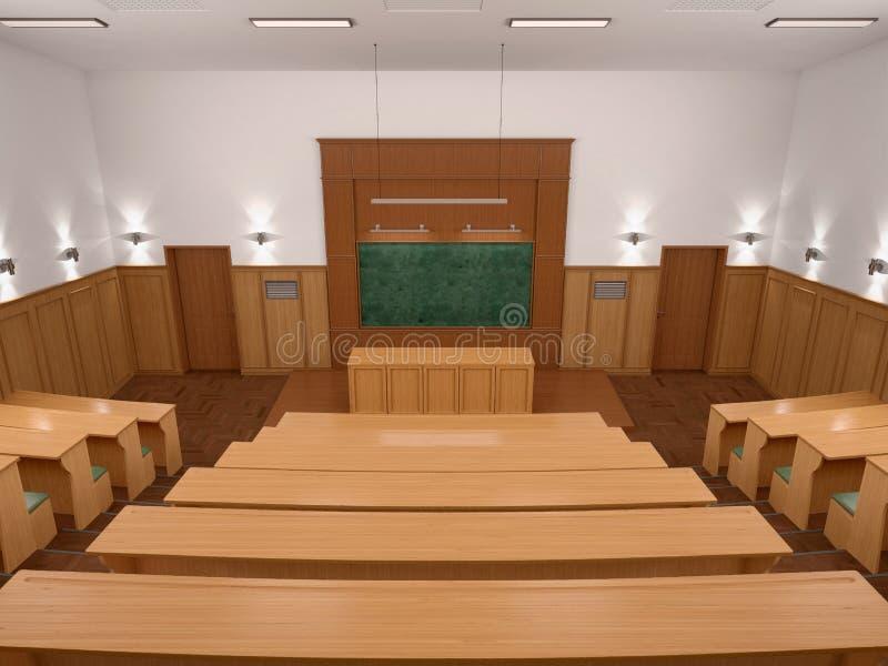 Una sala de clase moderna vacía de la universidad del estilo de la conferencia imagen de archivo libre de regalías