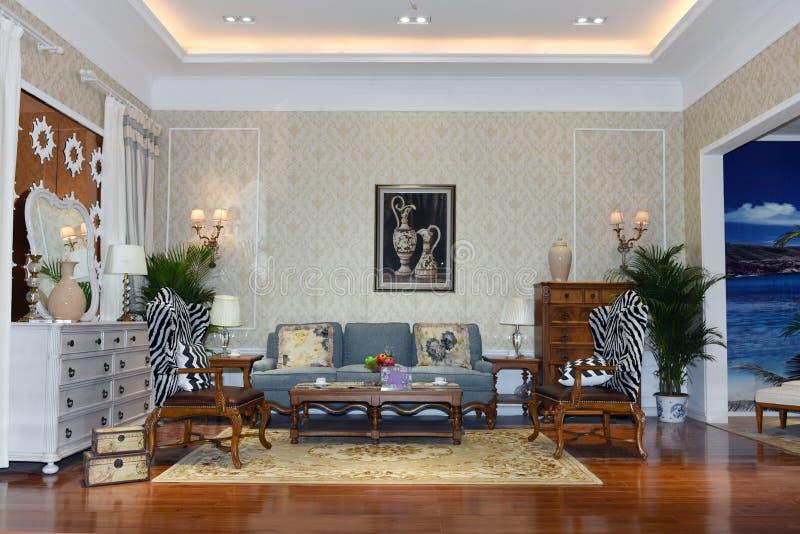 Una sala de estar foto de archivo libre de regalías