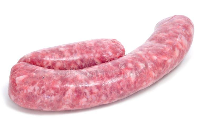 Salsiccia cruda della carne suina fotografie stock