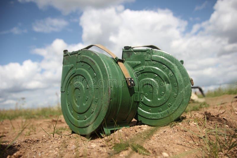 Una scatola speciale in cui granate per le lanciagranate AGS-17 immagine stock libera da diritti