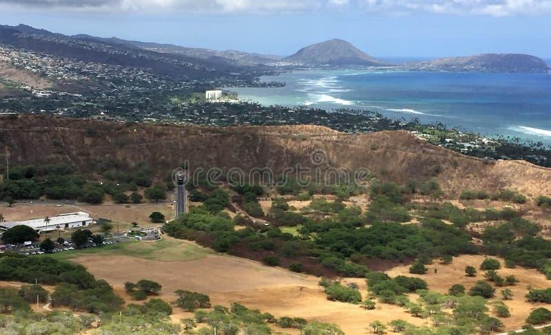 Una scena dall'isola di Oahu sulle Hawai immagine stock libera da diritti