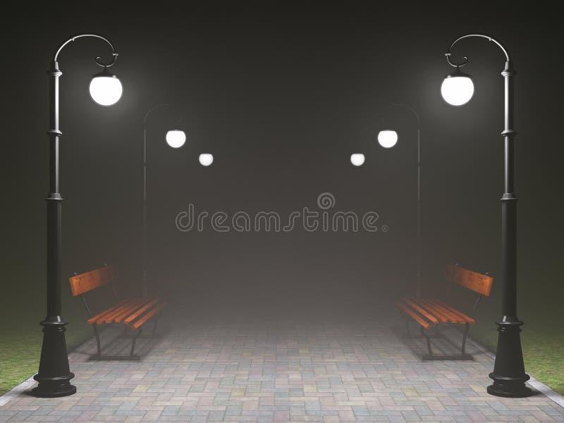 Una scena romantica di notte illustrazione vettoriale