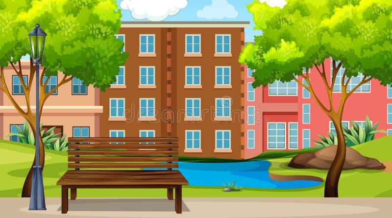 Una scena urbana del parco illustrazione di stock