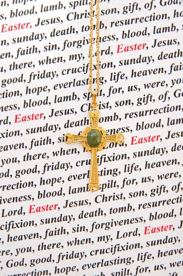 Una scheda di pasqua religiosa. immagini stock libere da diritti