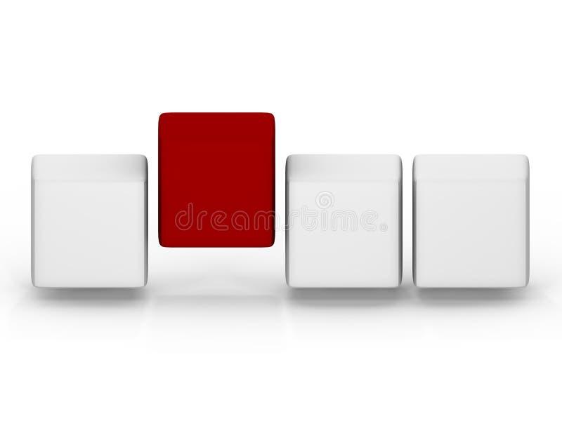 Una schiera astratta dei cubi - un'immagine 3d illustrazione di stock
