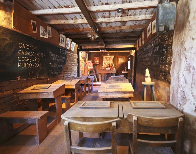 Una scuola di una stanza di vecchio Tucson, Tucson, Arizona immagini stock