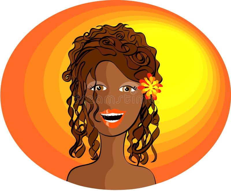 Una señora sonriente ilustración del vector