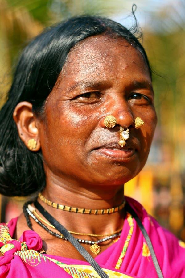 Una señora tribal india fotografía de archivo