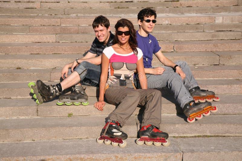 Una seduta dei tre rulli fotografie stock libere da diritti