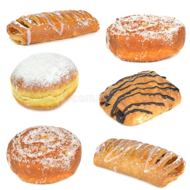 Una selección de tortas y de pasteles foto de archivo