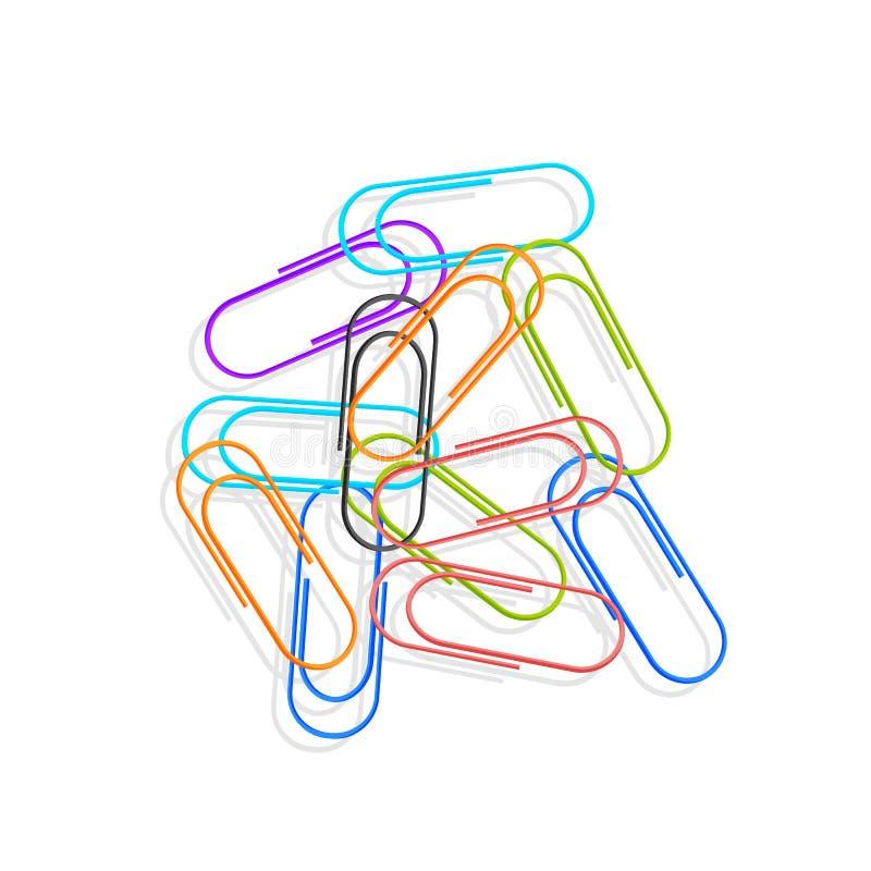 Una selezione delle icone colorate taglia, individuato su un fondo bianco Elementi di vettore per il vostro disegno illustrazione di stock