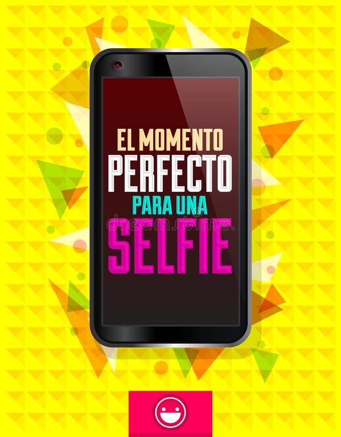 Una Selfie de para do perfecto do momento do EL ilustração royalty free