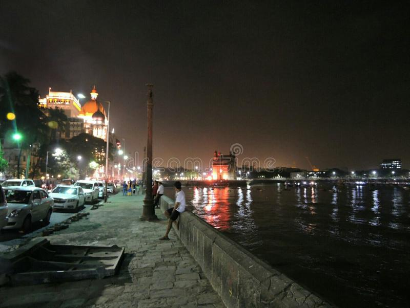 Una sera in Mumbai immagine stock