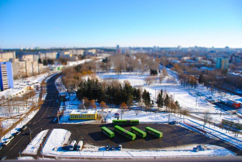 Una serie de panoramas de Minsk de los tejados de edificios fotografía de archivo libre de regalías