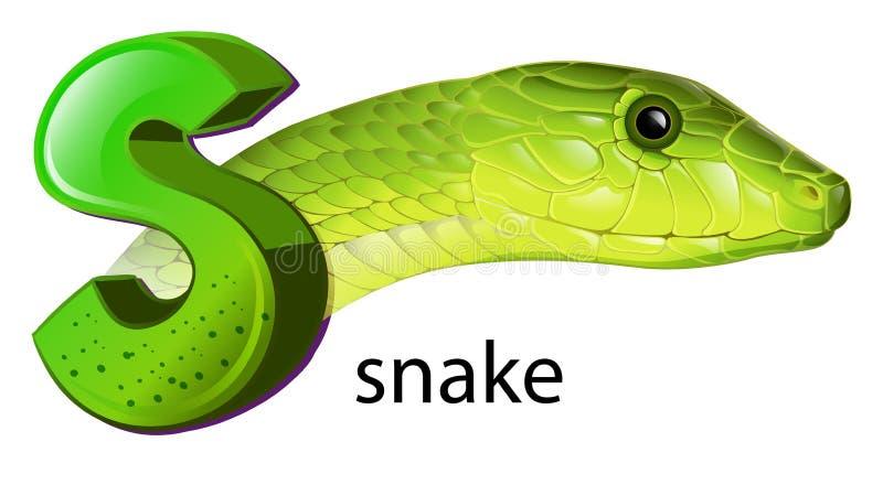 Una Serpiente Y Una Letra S Ilustración del Vector - Ilustración de ...