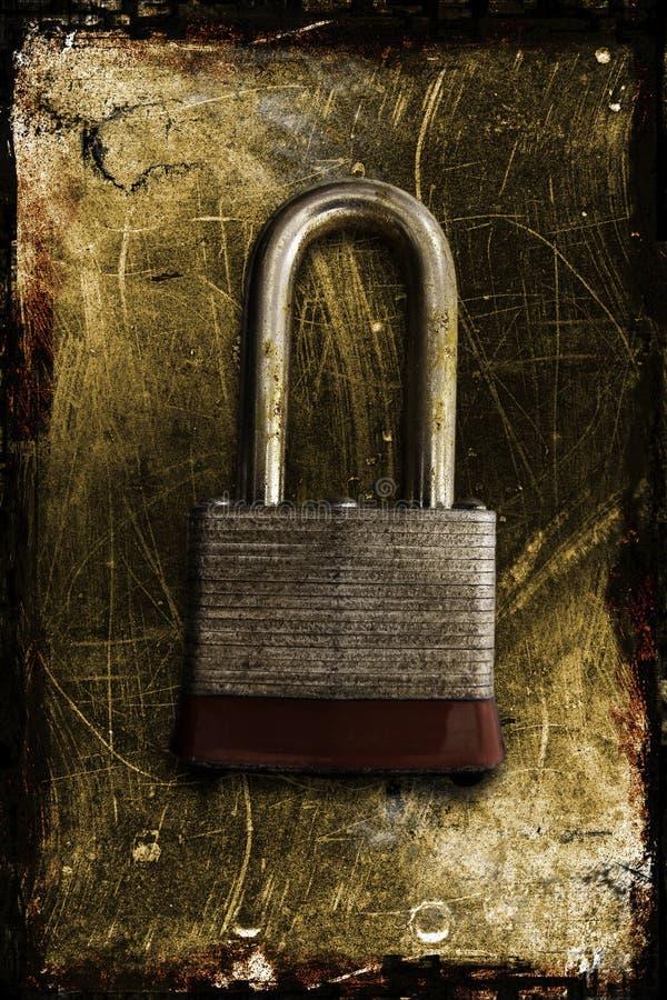 Una serratura arrugginita immagini stock