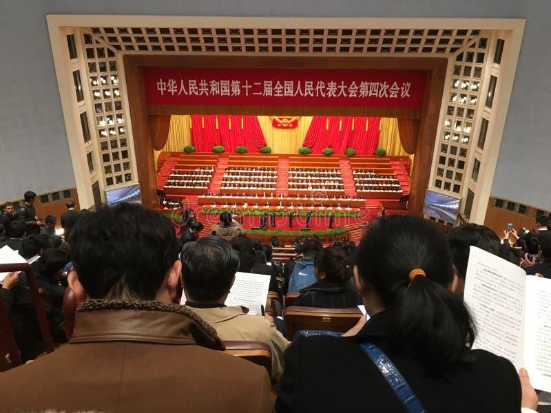 Una sessione della riunione del Parlamento della Cina fotografia stock