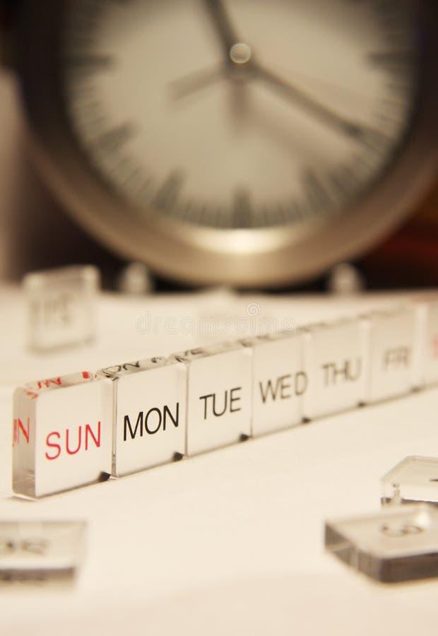 Una settimana fotografia stock