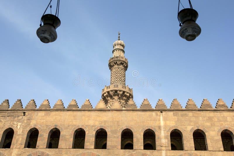 Una sezione della cittadella magnifica di Il Cairo (cittadella di Salah Al-Din) a Il Cairo, Egitto immagini stock libere da diritti