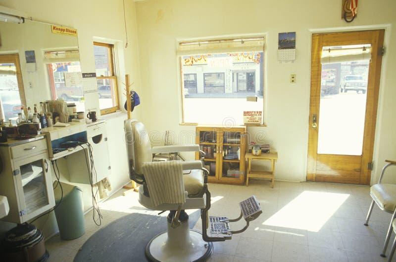Una silla de la barbería, Lyon, CO imagen de archivo libre de regalías