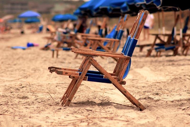 Una silla de playa fotografía de archivo