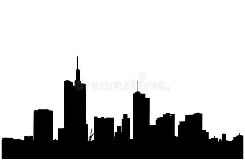 Una silueta de edificios en Francfort libre illustration