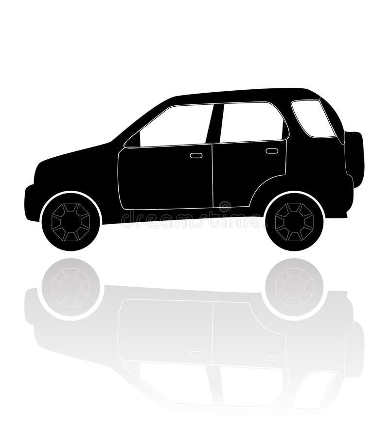 Una siluetta di un'automobile fotografia stock libera da diritti