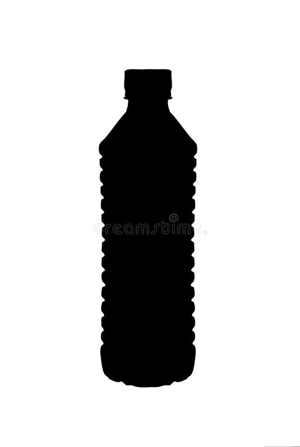 Una siluetta di una bottiglia di acqua illustrazione di stock