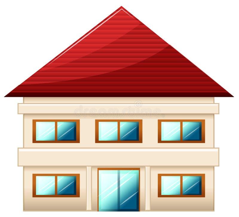 Una singola villetta a due piani illustrazione vettoriale for Disegnare piani di costruzione online gratuitamente