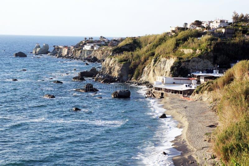 Una spiaggia degli ischi fotografie stock libere da diritti