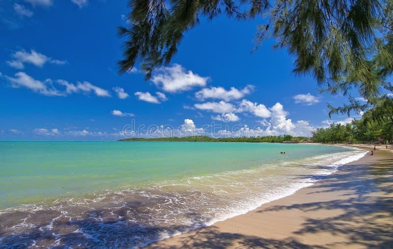 Una spiaggia dei sette mari, Porto Rico fotografia stock libera da diritti
