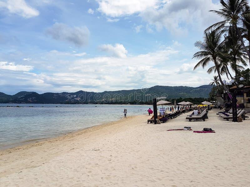 Una spiaggia in Koh Samui fotografie stock libere da diritti