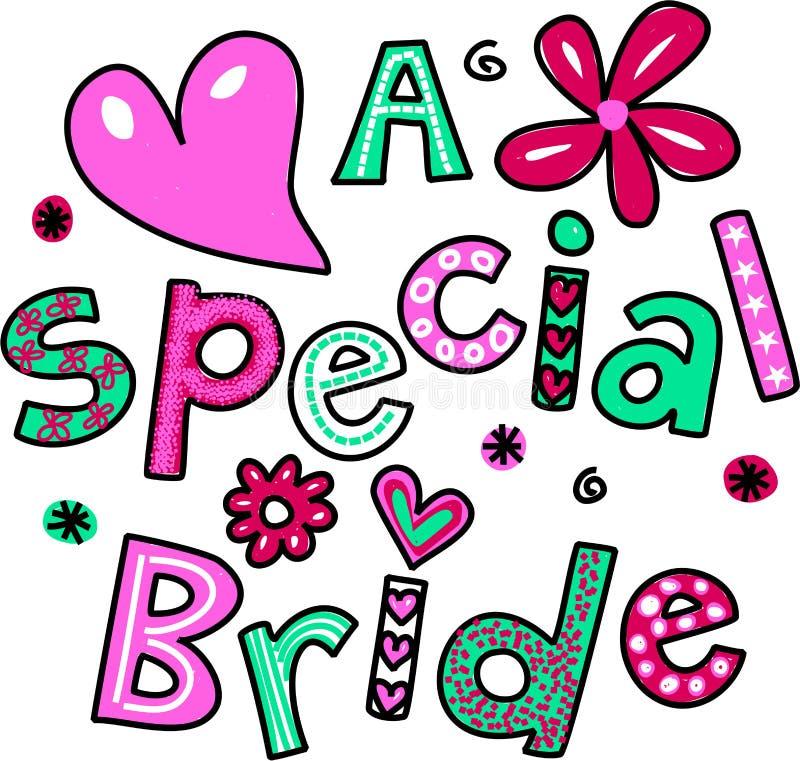 Una sposa speciale royalty illustrazione gratis
